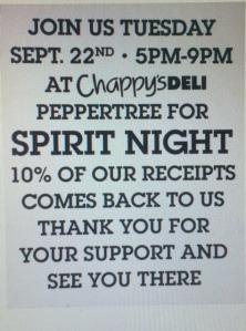 chappys spirit night