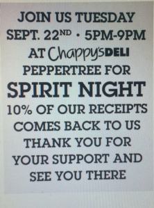chappys spirit night